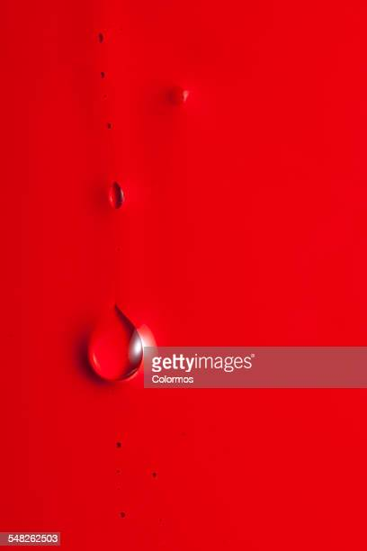 Water droplets on a painted background