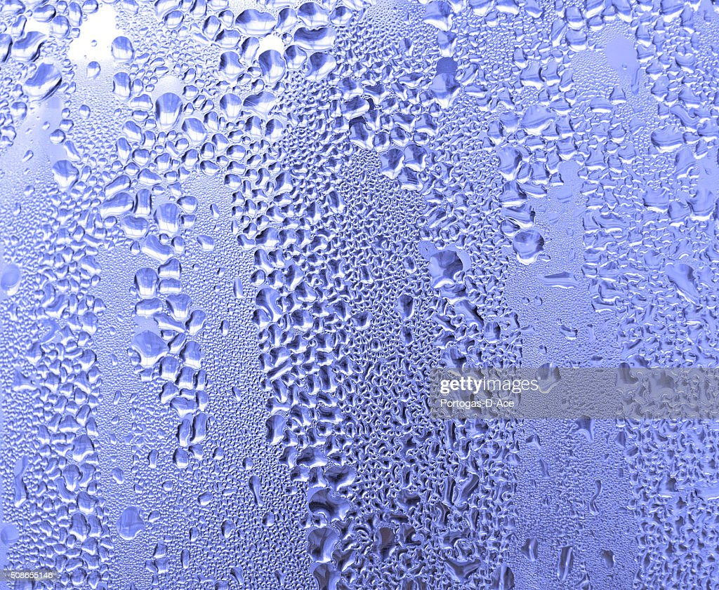 Water drops background with big and small drops : Stock Photo