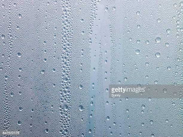 water drops, dew on window