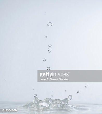 Water drops in free fall