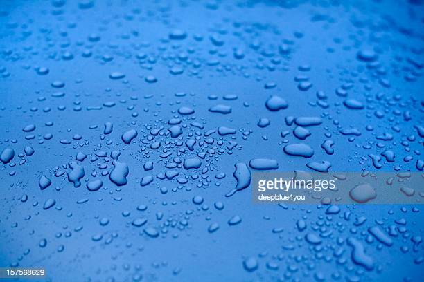 雨滴、洗練されたブルーの motorhood