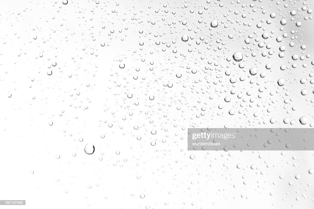 water drops on white