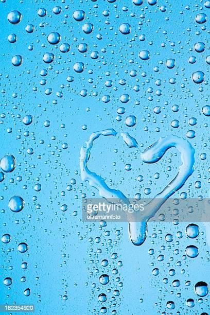 Wassertropfen Struktur mit Herz-Form