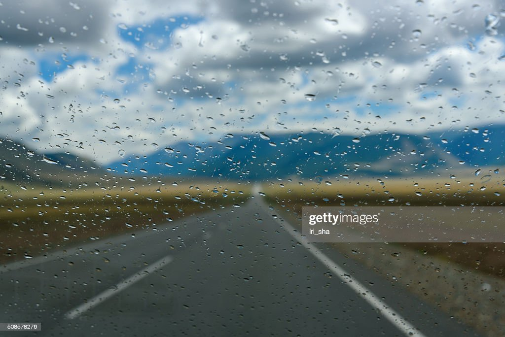 water drops window rain car : Stock Photo