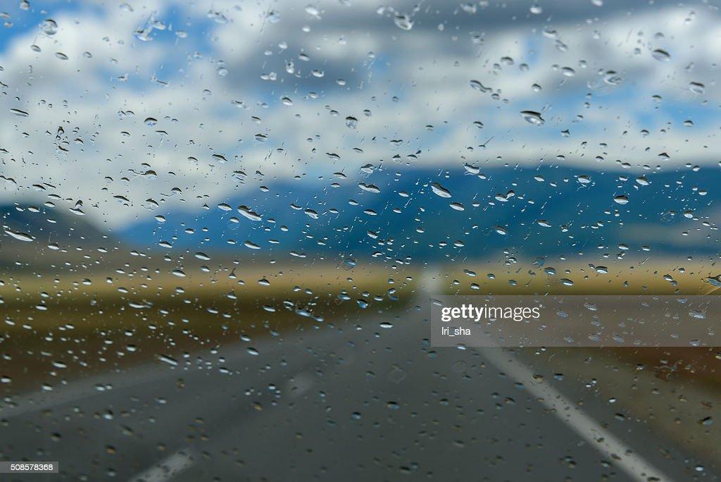 Gouttes d'eau pluie de fenêtre : Photo