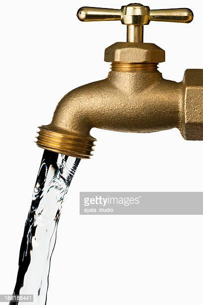 Water Faucet on white background