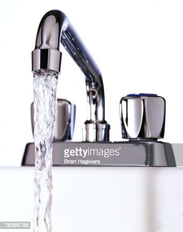 Water Faucet On White Background Stock Photo Getty Images