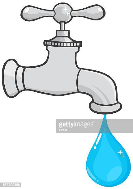 Water Faucet With Water Drop