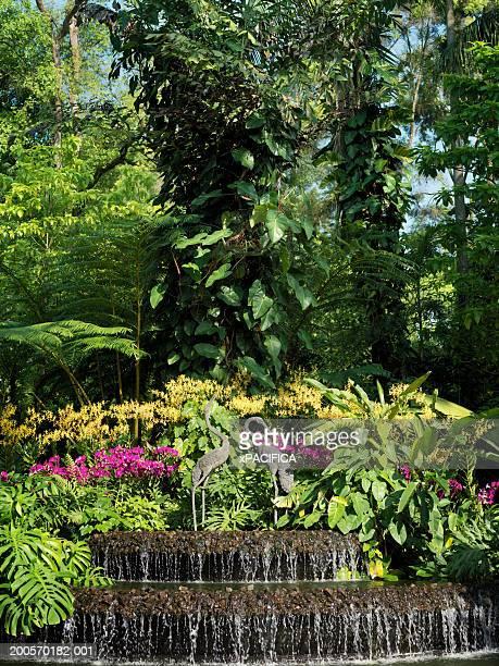 Water feature, Singapore Botanic Gardens, Singapore.