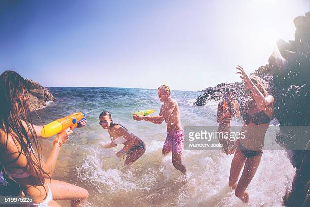 Water Fight at Beach