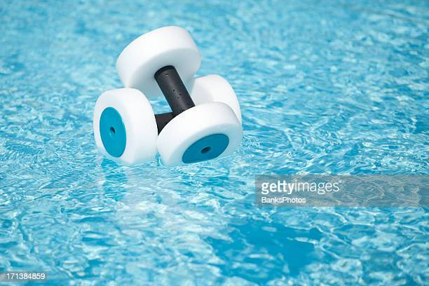 Water Fitness Hand Buoys Floating in Pool