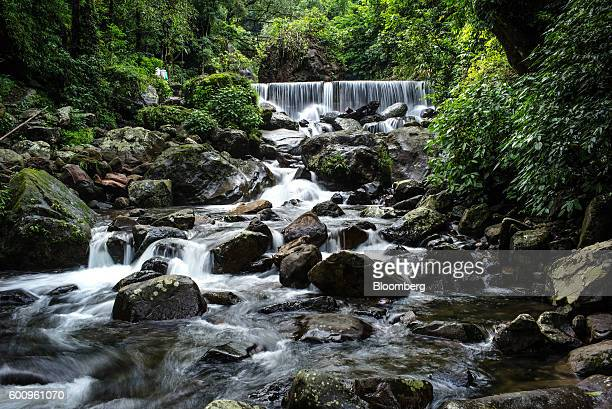 Water flows down a waterfall in Cherrapunji Meghalaya India on Saturday Aug 13 2016 Two years of deficient rainfall have affected more than a third...