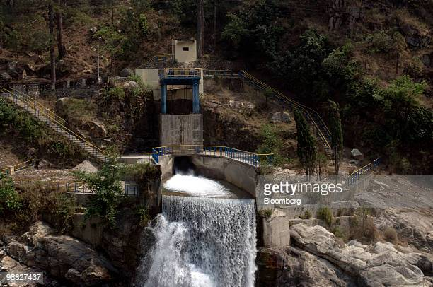 Water flows from a tunnel connected to a dam in the town of Uttarksahi Uttarkhand India on Thursday April 8 2010 The Indian government has decided to...