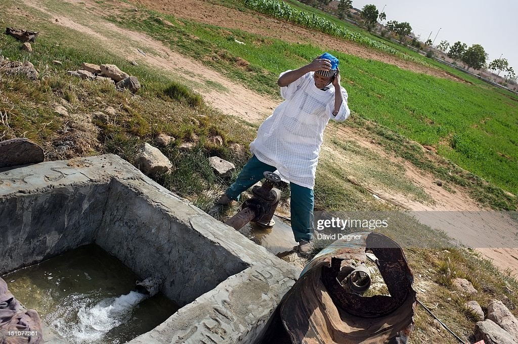 Water flows from the pipe that brings water from Lake Nasr run through the El Salam Nubian Village and is shared between a fish farm, the Nubian Village, and the Future Village, March 14, 2012. The Nubians were originally relocated during the construction of the high dam, but are still fighting for the rights for their new land. Abu Simbel is a one of the southern most villages in Egypt. It is most famous for its remains from Ancient Egypt, but it also draws Egyptians from across the country to work and make their dreams in its farms and jobs.