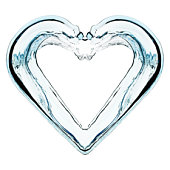 Water forming heart shape, close-up (digital enhancement)