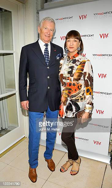 FIJI Water Founder CEO David H Gilmour and Jill Gilmour attend the Midsummer Night's 'A Passport To Luxury Fete Series' VIVMagnificent Woman Awards...