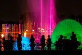 Water fountains at night, Manila, Philippines