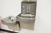 Two Water Fountains indoors