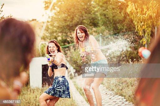 Water fun at summer
