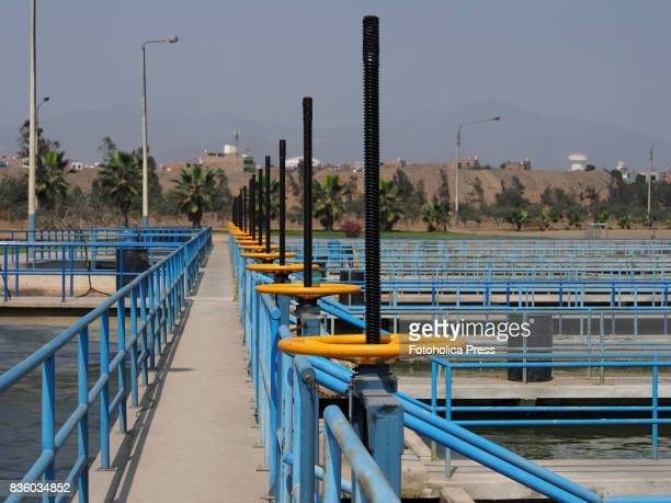Water gates at the Atarjea drinking water plant on the Rimac river The Lima Water and Sewerage Service organized a tour of its facilities 'By the...