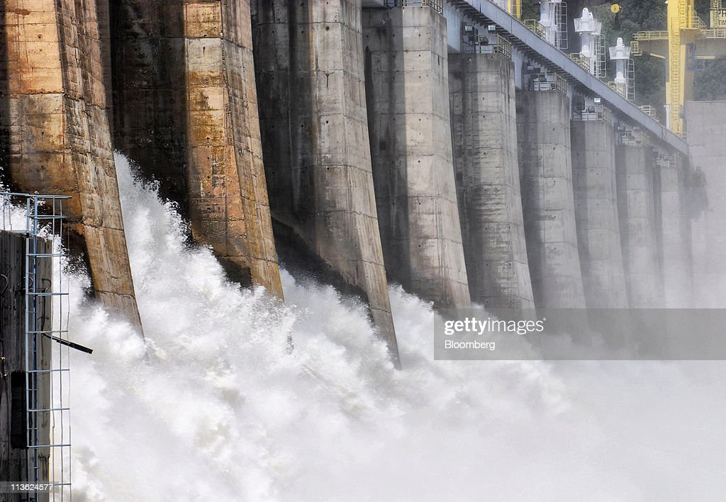 Water is released down the spillways at Djerdap 1, Serbia's largest hydro-electric power plant which is operated by Elektroprivreda Srbije, on the Danube river in Kladovo, Serbia, on Wednesday, May 4, 2011. Serbia expects as much as 9 billion euros ($13.4 billion) to be invested in the overhaul and development of its energy sector by 2015, according to Dusan Mrakic, a state secretary with the Energy and Mining Ministry. Photographer: Oliver Bunic/Bloomberg via Getty Images