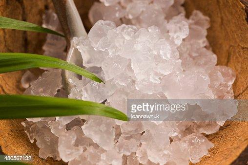 Water kefir grains : Stock Photo
