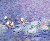 Water Lilies by Claude Monet detail Paris Musée National De L'Orangerie