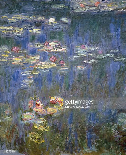 Water Lilies by Claude Monet detail Paris Musée National De L'Orangerie