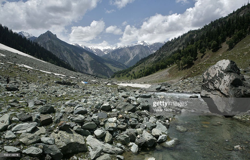 Water melts from a receding glacier on June 25 2010 in Sonamarg about 86 Km northeast of Srinagar the summer capital of Indian administered Kashmir...