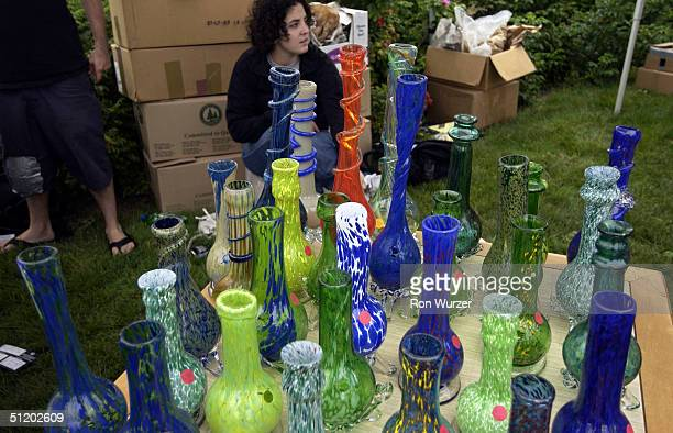 Water pipes used as bongs to smoke mariijuana are for sale at Hempfest on August 21 2004 in Seattle Washington More than 150000 people were expected...