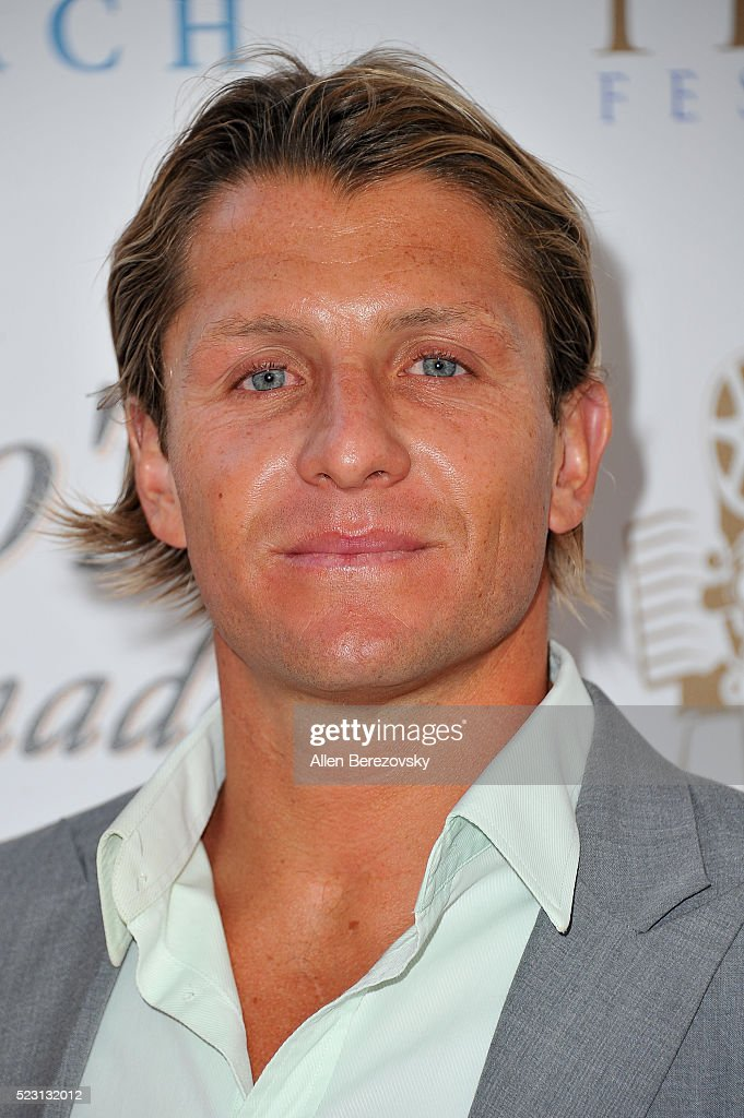 US Water Polo olympic team captain Tony Azevedo attends the 17th annual Newport Beach Film Festival opening night premiere of 'After The Reality' at Lido Live Theater on April 21, 2016 in Newport Beach, California.