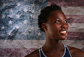 Water polo player Ashleigh Johnson poses for a portrait at the 2016 Team USA Media Summit at The Beverly Hilton Hotel on March 9 2016 in Beverly...
