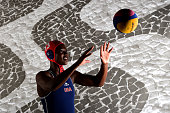 Water polo player Ashleigh Johnson poses for a portrait at the USOC Rio Olympics Shoot at Quixote Studios on November 21 2015 in Los Angeles...