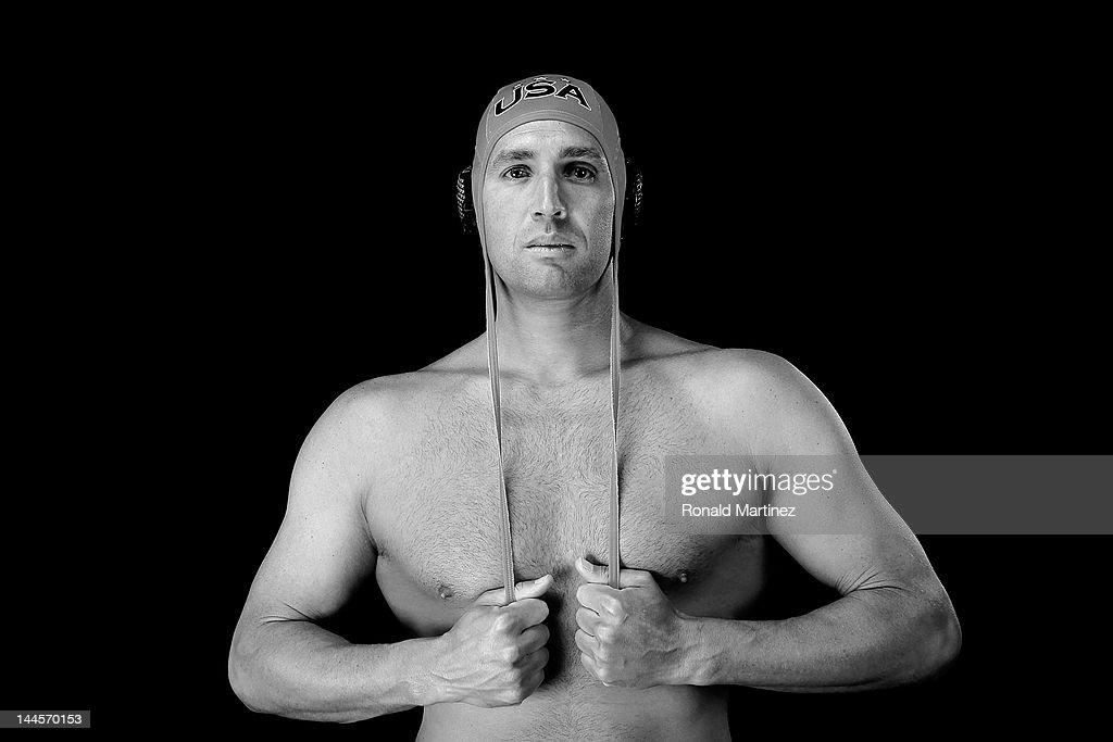 Water polo player, <a gi-track='captionPersonalityLinkClicked' href=/galleries/search?phrase=Merrill+Moses&family=editorial&specificpeople=1025270 ng-click='$event.stopPropagation()'>Merrill Moses</a>, poses for a portrait during the 2012 Team USA Media Summit on May 15, 2012 in Dallas, Texas.