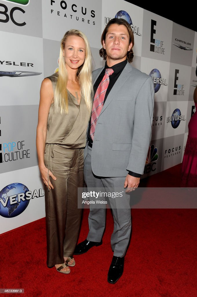 Water polo player Tony Azevedo (R) and Sara Azevedo attend the Universal, NBC, Focus Features, E! sponsored by Chrysler viewing and after party with Gold Meets Golden held at The Beverly Hilton Hotel on January 12, 2014 in Beverly Hills, California.