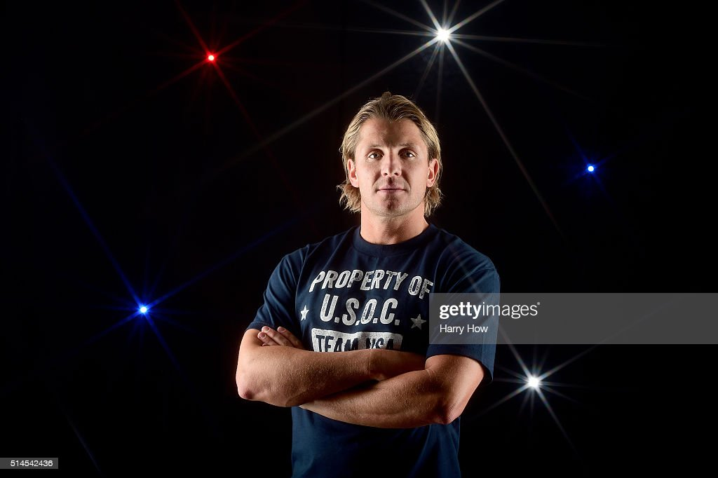Water polo player Tony Azevedo poses for a portrait at the 2016 Team USA Media Summit at The Beverly Hilton Hotel on March 9, 2016 in Beverly Hills, California.