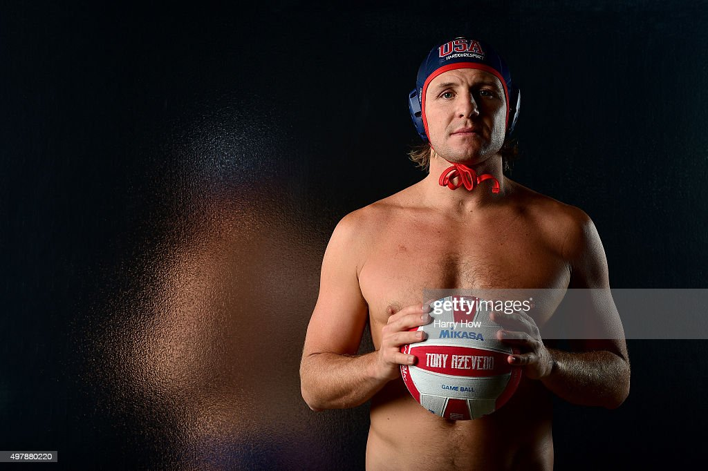 Water polo player <a gi-track='captionPersonalityLinkClicked' href=/galleries/search?phrase=Tony+Azevedo&family=editorial&specificpeople=3490431 ng-click='$event.stopPropagation()'>Tony Azevedo</a> poses for a portrait at the USOC Rio Olympics Shoot at Quixote Studios on November 18, 2015 in Los Angeles, California.