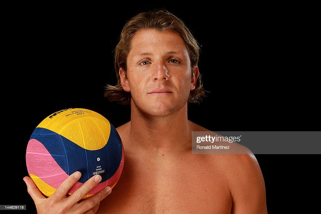 Water polo, <a gi-track='captionPersonalityLinkClicked' href=/galleries/search?phrase=Tony+Azevedo&family=editorial&specificpeople=3490431 ng-click='$event.stopPropagation()'>Tony Azevedo</a>, poses for a portrait during the 2012 Team USA Media Summit on May 15, 2012 in Dallas, Texas.
