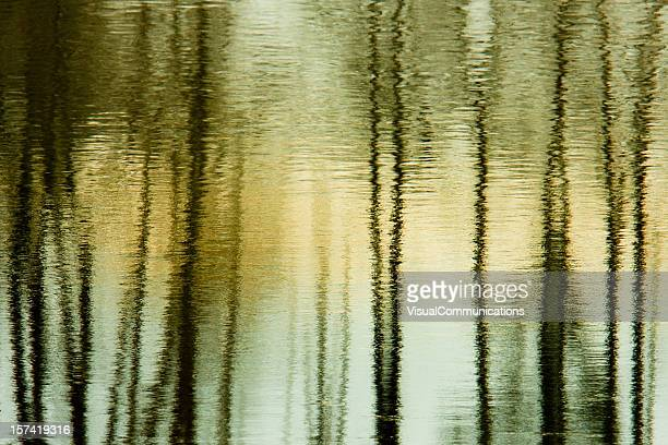 water reflection abstract.