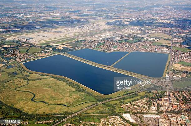 Water reservoir and Heathrow Airport London