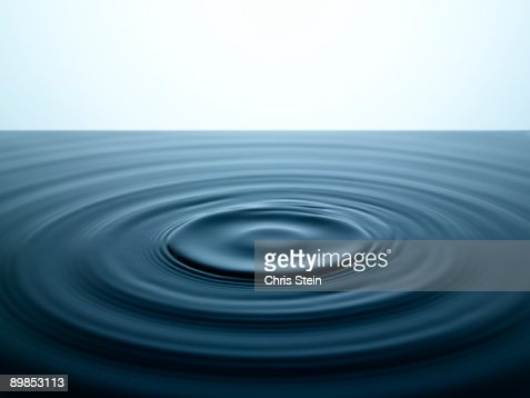 water ripples in a pool of water