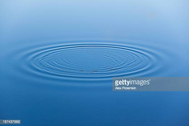 Water ripples on the surface of smooth water