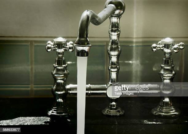 Water running from tap