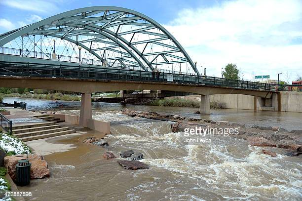 Water runs high at Confluence Park Residents woke up to broken limbs from trees May 10 2015 from an overnight storm dumping 510 inches of snow