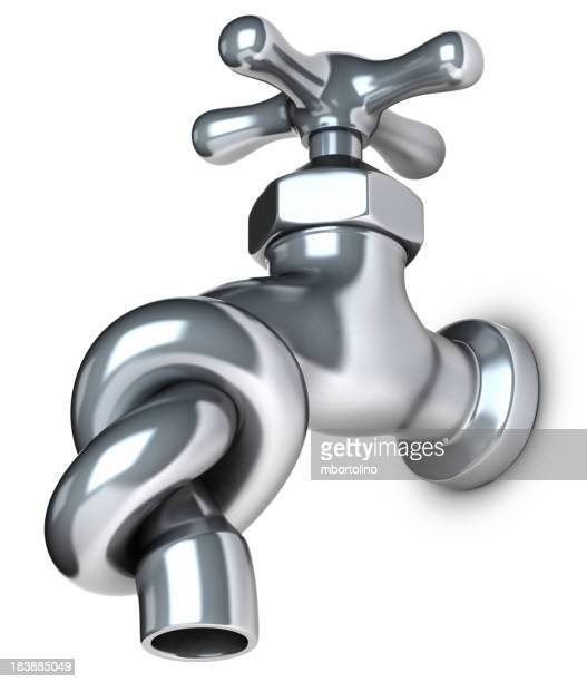 Water shortage knotted tap
