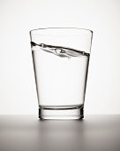 Water sloshing in glass