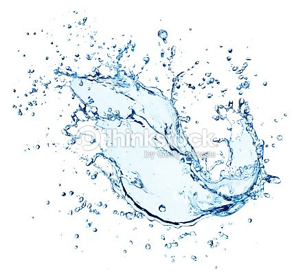 Water Splash With Drops Isolated : Stock Photo