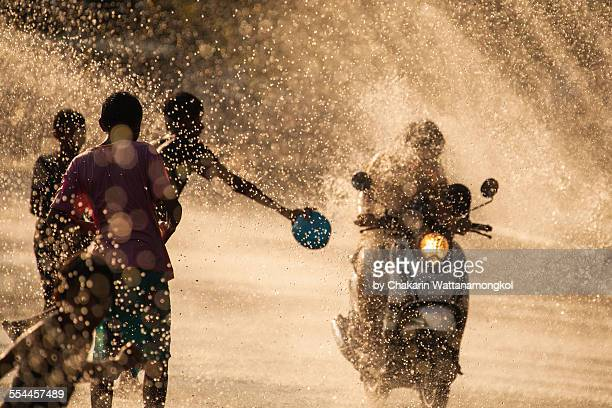 Water Splashing in Songkran Festival