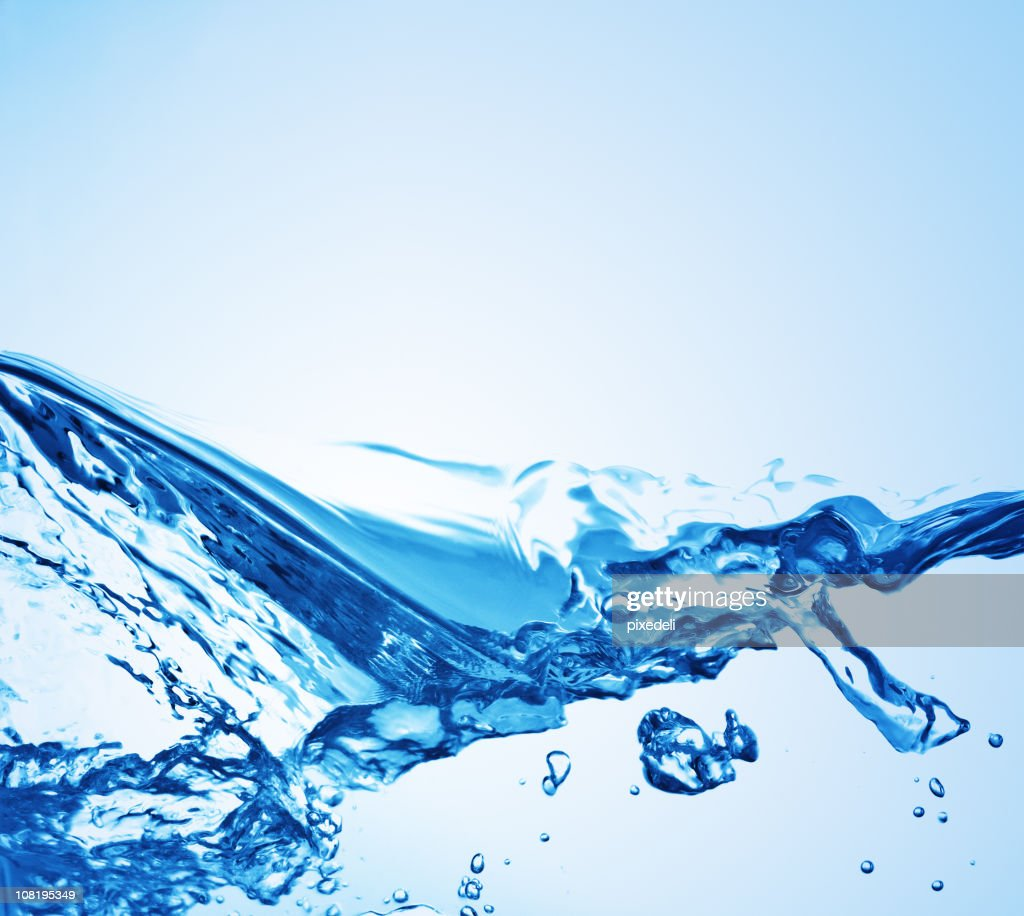 Clear Water Splashing, Ripples and Waves : Stock Photo