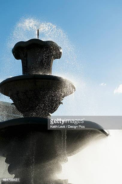 Water Spraying From A Water Fountain
